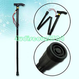 Wholesale Adjustable Folding Fold Up Foldable Walking Stick Cane Slip Resistant Tip