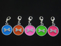 Wholesale Dog bones Pet ID F008 Tag DIY Hang Charms Pendant Zinc Alloy Brand New pet products dog tag dog