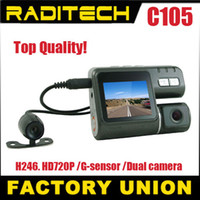 Wholesale HD P Dual Lens Dashboard Car dvr vehicle Camera Video Recorder DVR CAM G sensor