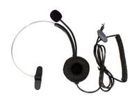 Wholesale 5pcs Telephone Monaural Headset Communication Mic Pins Crystal Head Unique Design New Unique Design C085