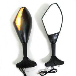 2* Motorcycle Integrated Turn Signal Mirrors For Honda mirror Yamaha mirror Suzuki mirror with turning light rearview mirrors
