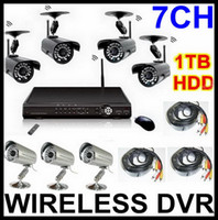 Wholesale WIRELESS SECURITY SURVEILLANCE CAMERA DVR SYSTEM CH H TB HDD