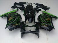 Wholesale Lime Green flames Kawasaki Ninja R EX250 body fairing kit windscreen