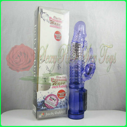 Wholesale Rabbit G Spot Vibrators vibration and rotation massager multi function penis Sex Toy Sex products