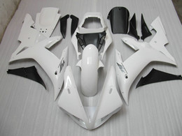 White Motorcycle bodywork for YZF R1 2002 2003 YZFR1 02 03 YZF-R1 full fairing kit + Windshield