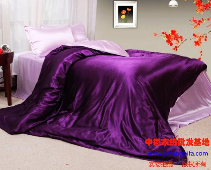 Mulberry silk purple pink comforter bedding set sets king - Pink and purple bedding queen ...