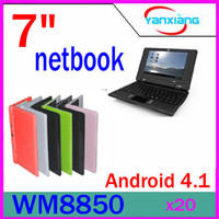 Wholesale 20pcs quot VIA WM8850 Laptop Android Netbook Notebook GB Webcam flash Facebook Youtube RW L01