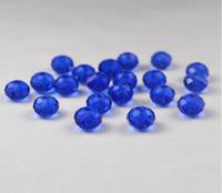 al por mayor aa grado-¡El envío libre! 4mm 6m m 10m m 12m m 14m m grano azul claro de CutFaceted del grano de cristal de Rondelle de los granos del Spancer de DIY que hace la joyería