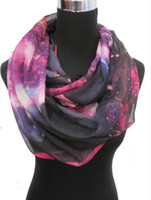 Wholesale Fashion Ladies Galaxy Star Sky Print Circle Infinity Scarf