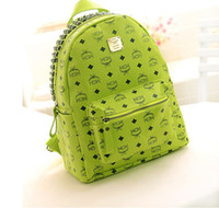 Wholesale MCM Handbags Backpack Shoulder Tote Bag Punk Rivets Colors PU