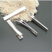 Wholesale Promotion New Iron Barrette Clips Hair Pin Rhodium Plated Aligator clips Hair Ornament DIY x8x12mm TS1726