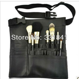 Wholesale New Professional make up Waist bag Makeup Bag Cosmetic tools bag Black PU Case