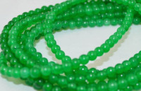 Wholesale 4mm mm mm Green Jade Round Loose Jewelry Beads quot
