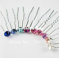 Wholesale Pc Rhinestone Hair Pin Bridal Hair Pin Wedding Hair Pin Assorted Color Free Shippin