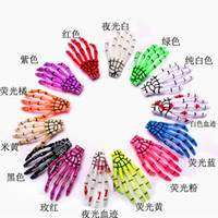 Wholesale 18pcs not pair Fashion skeleton claws skull hand hair clip hairpin Zombie Punk Horror hairwear hairpin bobby pin W03