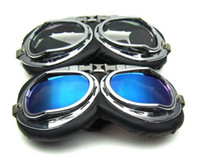 Wholesale New Aviator Pilot Motorcycle Scooter ATV Goggle Eyewear Silver Lens Goggle Eyewear