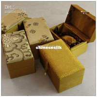 Jewelry Boxes crystal jewelry box - Cotton Filled Crystal Bracelet Box High End Prayer Beads Boxes Silk Brocade Gift Jewelry Boxes size