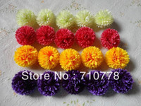 Wholesale 5cm colors Artificial Silk carnation Flower Heads wedding DIY Jewelry Findings headware