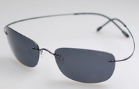 b sunglasses - Luxury Pure B Titanium Rimless Flexible sunglasses Eyeglass Polarized lens