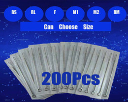 Wholesale 200pcs Disposable Sterile Tattoo Needles Assorted For Tattoo Gun Kits Ink Grips Tattoo Supplies