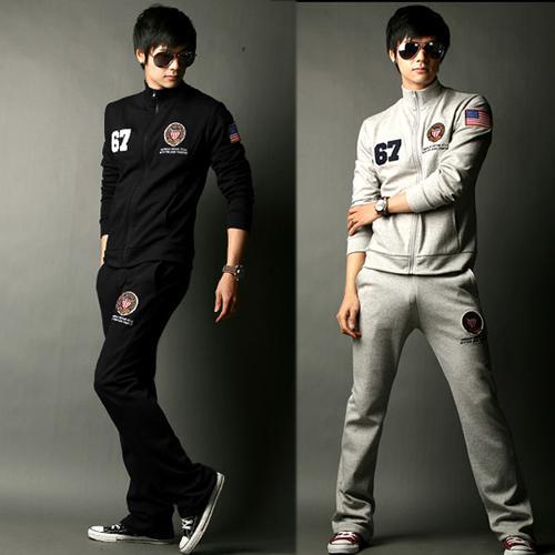 American Flag Tracksuit Sport Brand Sportwear Men Track Suit Korean Style Men Fashion Hoodie Men