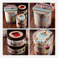 Wholesale Jumbo Choco chip Design Cookie Jar Candy Can Home tin set cake storage food box container