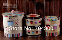 Wholesale Cookie Jar Candy Can Home tin set cake storage food box container Jumbo Choco chip Design