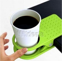 Wholesale Cup Holder Clip economic practical Clip Bracket Table Drink Cup Lap Holder For Home Offic