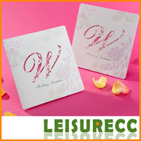 Wholesale Pierced letters wedding wedding invitations floral romantic invitation