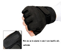 Wholesale Military Gloves Special Troops Gloves Hell Storm After Engraving Sports Riding Black Hawk Tactical Fingerless Gloves
