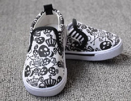 Discount baby canvas skull Cool skull shoes baby toddler shoes children canvas shoes