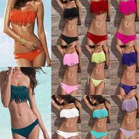Women Bikinis Fringe Hot! Newest Sexy Fashion Women Summer Bikini Set Swimwear Padded Girl Lady Swimming Swimsuit Boho Fringe