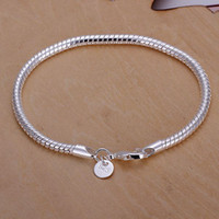 Wholesale New Listing Fashion Bracelet High Quality silver retro beautiful MM Snake bones jewelry classic Trend holiday gift H159