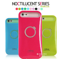 Wholesale i Glow iglow Hybrid Luminous Noctilucent Ring Stand holder Plastic Cell Phone Case Cover For iPhone S iPhone5 s C Samsung s4 Note