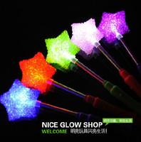 Wholesale LED Glow Sticks Star Spring Light Stick Bar Concert Fancy Party Decor Kids Toys Gifts