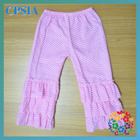 Wholesale 2013 ruffle chevron pants kid wear trousers of girls child clothing lot02