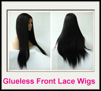 Wholesale Rani Hair Real Images Brazilian Remy Human Hair Glueless Front Lace wig DHL Free Inch Silky Straight Jet Black High Quality C023