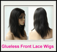 Wholesale Rani Hair Real Images Brazilian Remy Human Hair Glueless Front Lace wig B off Black Inch Silky Straight High Quality DHL Free C033