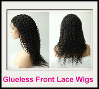 Wholesale Rani Hair Real Images Brazilian Remy Human Hair Glueless Front Lace wigs B off Black Inch Water Wave High Quality DHL Free C037