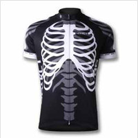 Wholesale Fashion skeleton sports T shirt LOOK Pro team cycling jersey short sleeve cycling Black jersey set bicycle wear cycling clothes