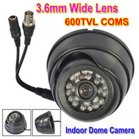 Wholesale 600TVL Color CMOS Super Had LED CCTV Indoor Dome Camera mm Lens Width Angle Plastic Cover