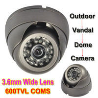 Wholesale 600TVL Color COMS Super Had LED IR CCTV Outdoor Vandal Dome Camera Width Angle
