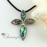 jewelry - cross yellow pink mother of pearl oyster shell rainbow abalone necklaces pendants Fashion jewelry in bulk Mop1385cy0 high fashion jewelry
