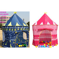 Wholesale Cute Palace Castle Prince and Princess Children Playing Toy Tent blue and pink colors mixed Indoor amp Outdoor