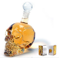 Wholesale Bar Line ml ounces Cool Crystal Head Vodka Skull Face Bone Glass Bottle Decanter