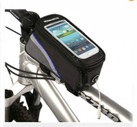 Wholesale Cycling Bike Bicycle Frame Front Tube Bag pouch Holder Phone Case For iPhone S