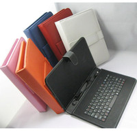 Wholesale Cheap Android Tablets Keyboards - Cheap 9 Inch Leather Case Keyboard Micro USB Port With Stand Protective Cover For 9 Inch Allwinner A13 Android Tablet PC MID Free Shipping