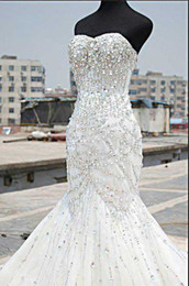2013 Mermaid Wedding Dress Full Rhinestones Beaded,Custom made welcome