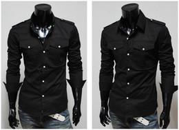 Wholesale 2013 new fashion black mens shirts long silk shiny shirts for men mens dress shirts designer