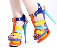 2013 summer fashion kvoll sandals women's Spell color shoes ...